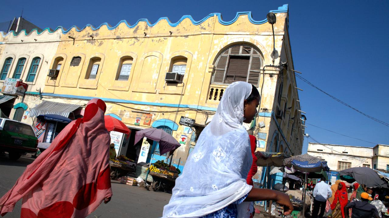 The streets of Djibouti City, Djibouti. Image shot 2007. Exact date unknown.