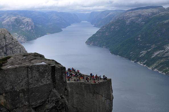 Norway - Preikestolen at Lysefjord