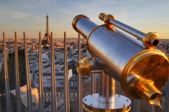View from Arc de Triomphe of the Eiffel Tower