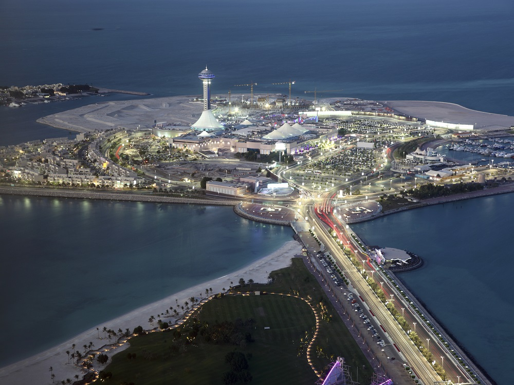 Marina Mall at dusk. Abu Dhabi