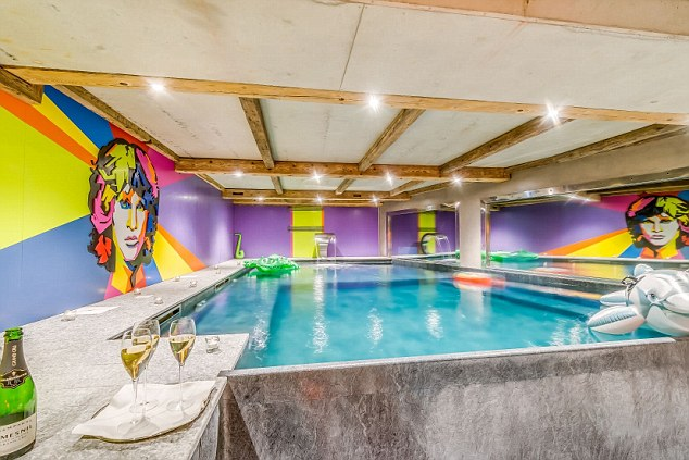 Chalet Rock N Love Tignes Les Brevieres, France Credit Andy Parent Image via MOS reporter Nick Pryer It's strictly rock 'n' roll so you gotta like it before you book it. Possibly the most bonkers chalet on the market the eccentric owner has woven iconic rock lyrics into some of the bedroom carpets (sleeps 8 adults and up to 6 children) including the intro to Led Zeppelin's Stairway to Heaven. The walls of the indoor pool are emblazoned with Jim Morrison, Kiss are in the lounge and Bob Dylan in the gym which boasts a collagen boosting, light therapy hydro-jet bed, boxing bag, steam and massage rooms, kettle weights, rowing machine, music and aromatherapy. There's a balcony hot tub too but the games room might be more fun with pool table converted from real Mini Cooper, Wurlitzer juke box with 100 rock albums, range of musical instruments to play, a Marshall amplifier and a fully stocked bar. Perhaps best of all is the garage room over which children have to fight adults for the beds converted from real VW T2 touring vans and a CJ jeep. Oh and of course there is human size Transformer in the kitchen. Low £10,000 - High £30,500