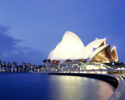 Australia, New South Wales, Sydney, Opera House, night