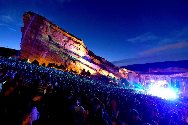MORRISON, CO - JULY 03:  General view of atmosphere during the Umphrey's McGee performance at Red Rocks Amphitheatre on July 3, 2016 in Morrison, Colorado.  (Photo by Jeff Kravitz/FilmMagic)