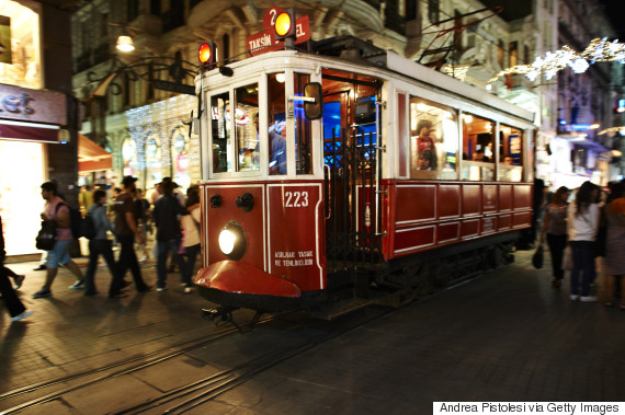Tram from Tunel area, Istanbul